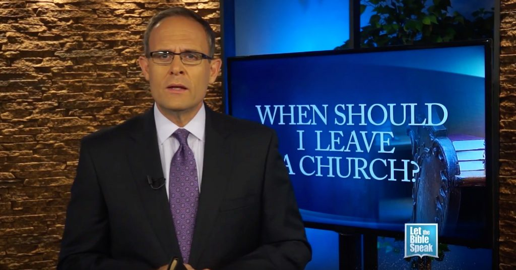 When Should I Leave A Church? - LET THE BIBLE SPEAK TV with Kevin Presley