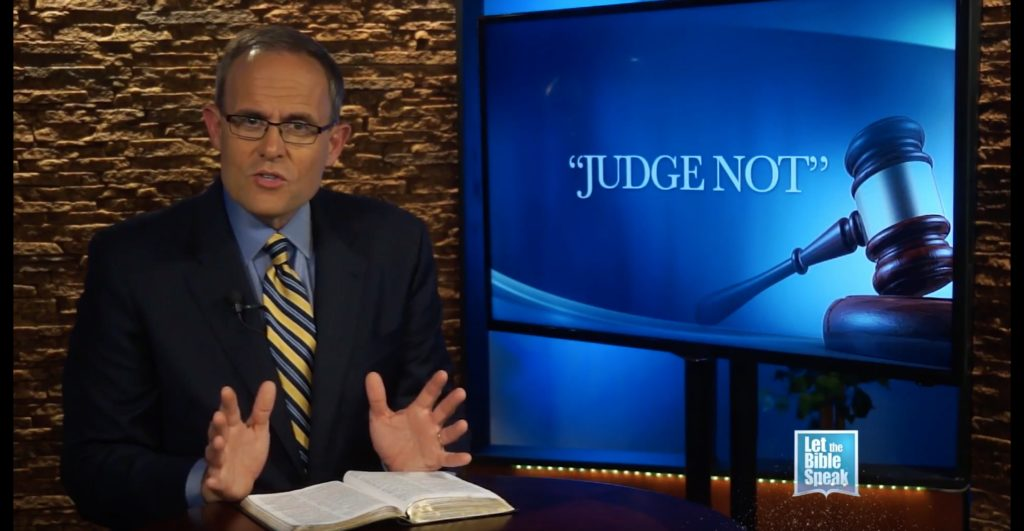 Judge Not (The Text) - LET THE BIBLE SPEAK TV with Kevin Presley